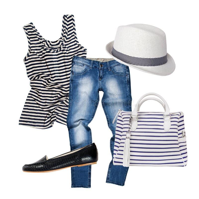 Collage d'habillement et d'accessoires image stock