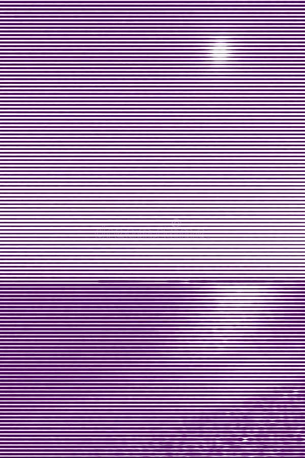 Collage d'image de ressac sur une plage sablonneuse à la nuit et au chemin lunaire f illustration libre de droits