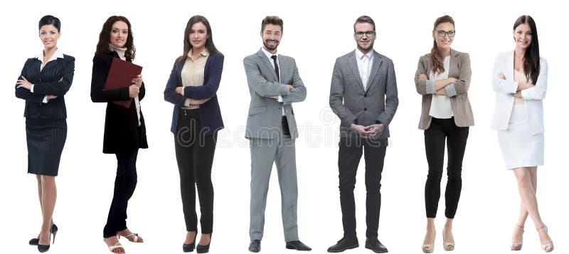 Collage d'un grand choix d'hommes d'affaires se tenant dans une rang?e photo libre de droits