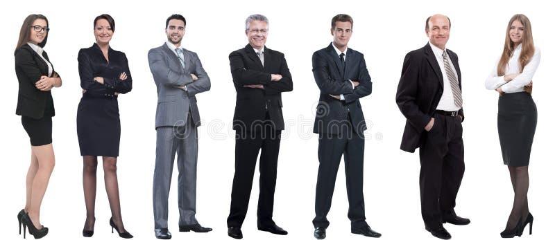 Collage d'un grand choix d'hommes d'affaires se tenant dans une rang?e photographie stock libre de droits