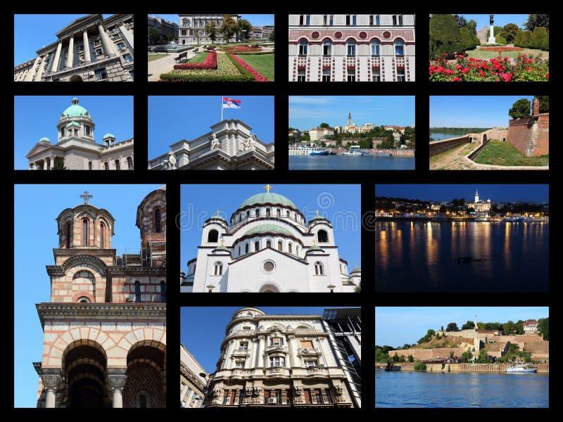 Collage de Belgrade image stock