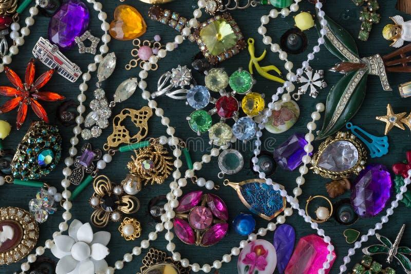Collage de bijouterie fantaisie photo stock