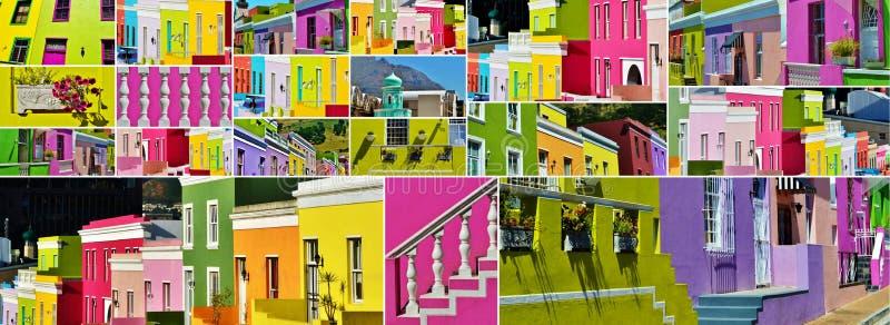 Collage de BO Kaap fotografía de archivo