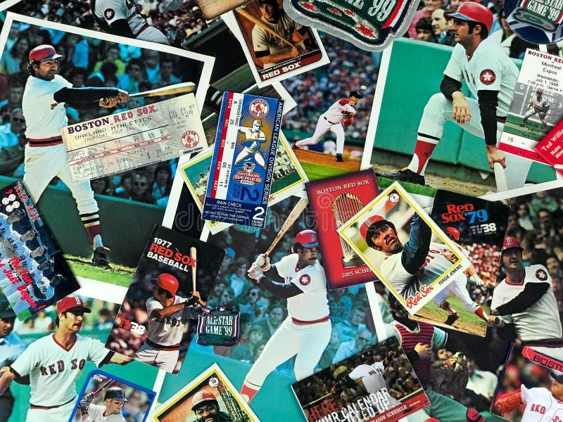 Collage de Boston Red Sox imágenes de archivo libres de regalías