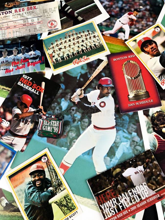 Collage de Boston Red Sox foto de archivo