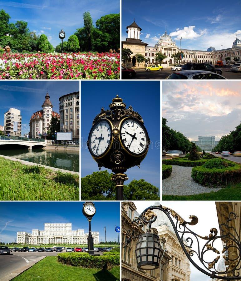 Collage de Bucarest photo stock