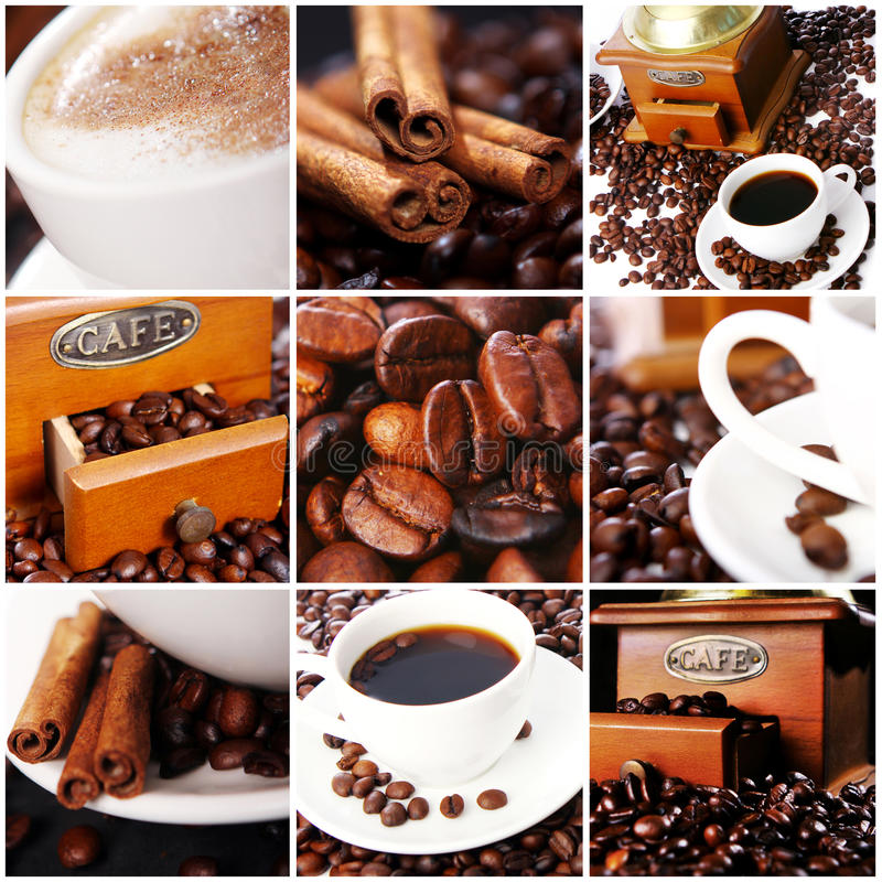 Collage de café photo stock