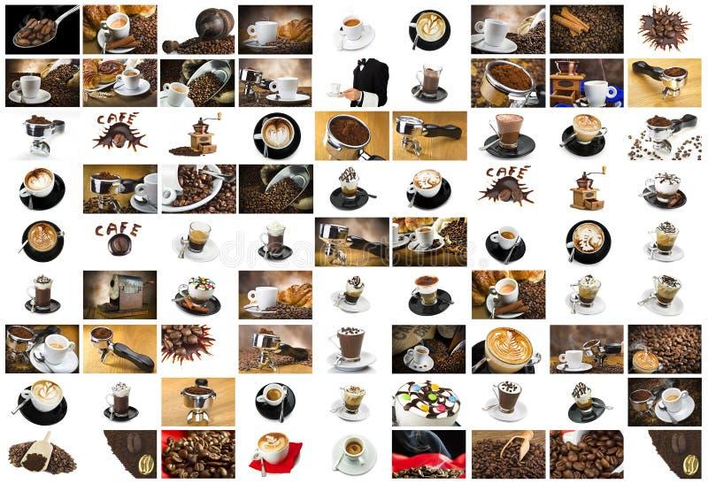 Collage de café et de cappuccino photos libres de droits