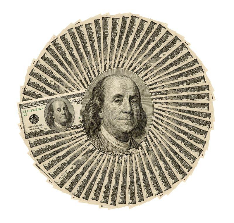 Collage de cent billets d'un dollar en gros plan pour le fond photo stock