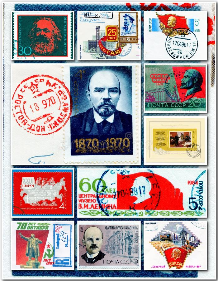 Collage de communistes image stock