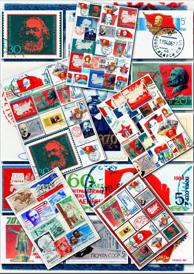 Collage de communistes images libres de droits