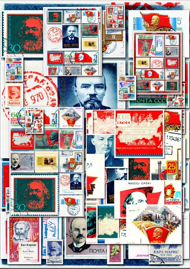 Collage de communistes photographie stock