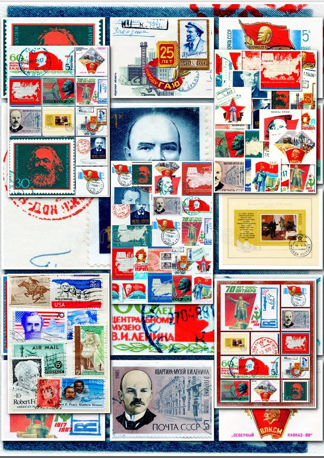 Collage de communistes photo libre de droits