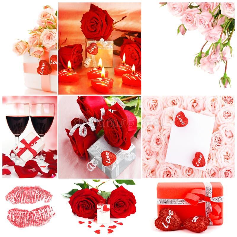 Collage de concept d'amour photos stock