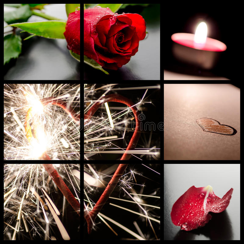 Collage de concept d'amour photographie stock libre de droits