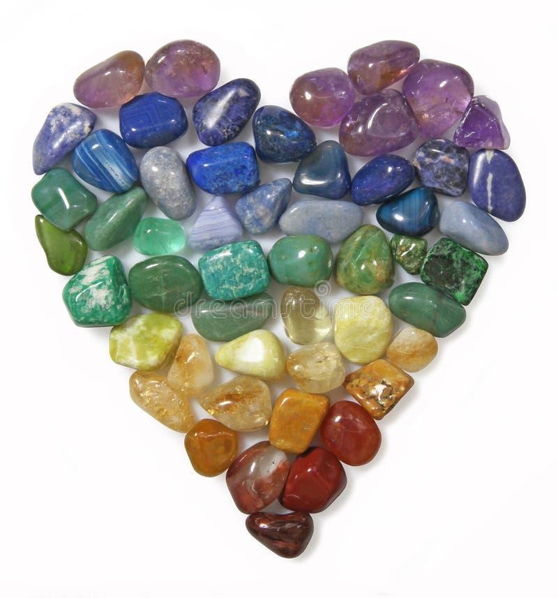 Collage de Crystal Gemstone Heart fotos de archivo