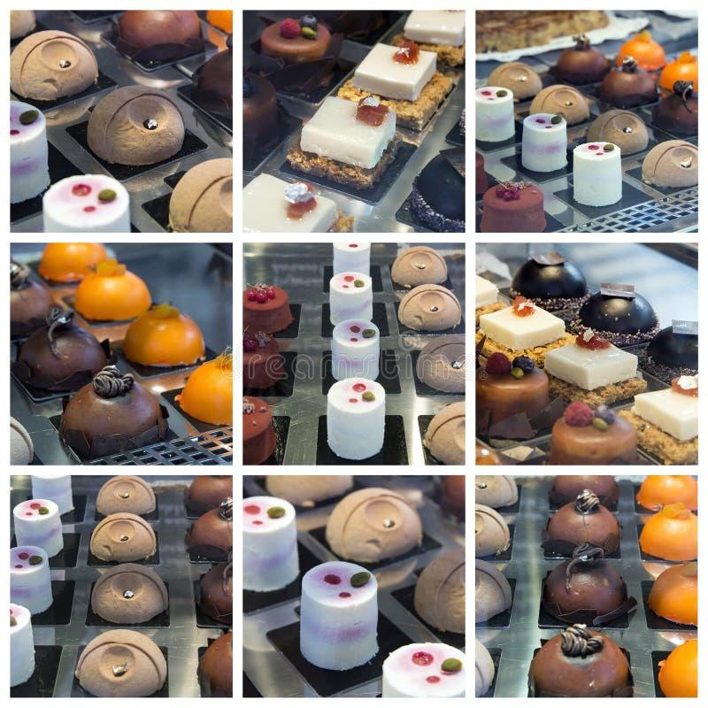 Collage de dessert images stock