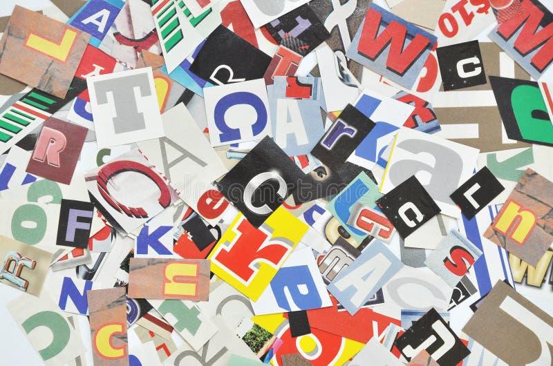 Collage de Digitals fait de découpages de journal photo libre de droits
