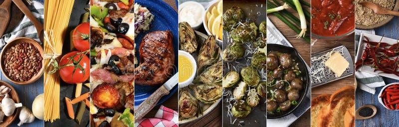Collage de divers produits alimentaires photographie stock