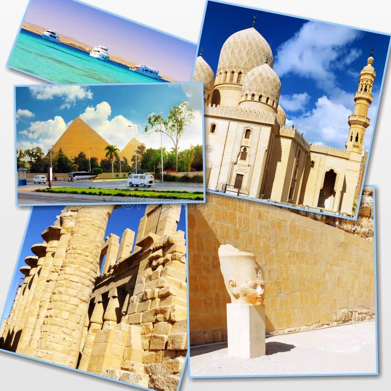 Collage de Egipto hermoso fotografía de archivo