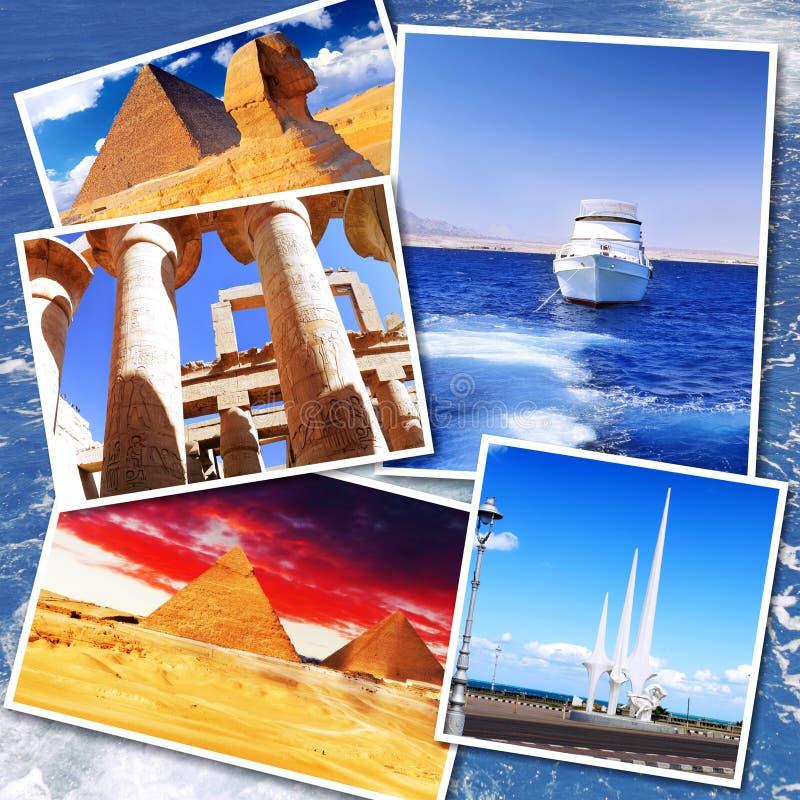 Collage de Egipto hermoso fotos de archivo