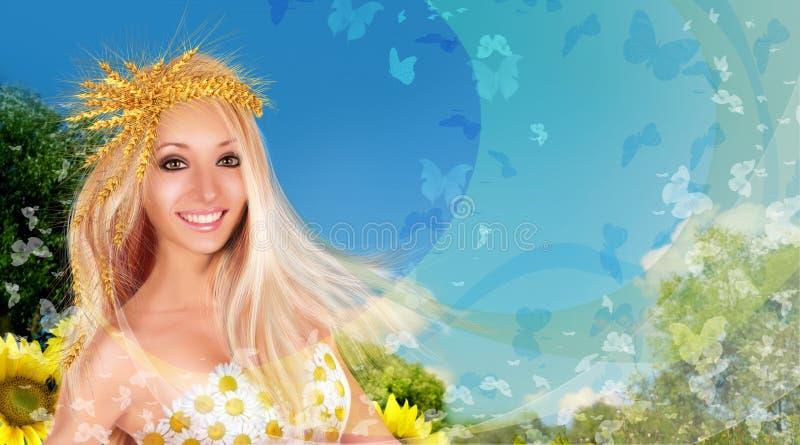 Collage de femme d'été photographie stock libre de droits