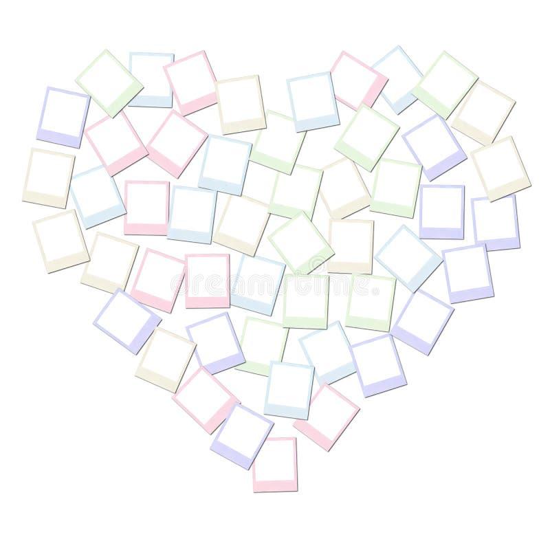 Collage de forme de coeur photo stock