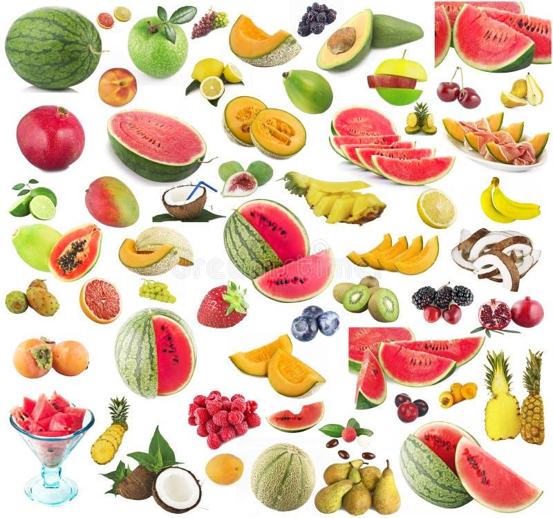 Collage de fruits images stock