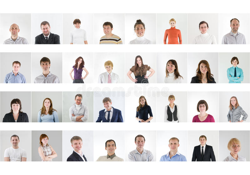 Collage de gens image stock