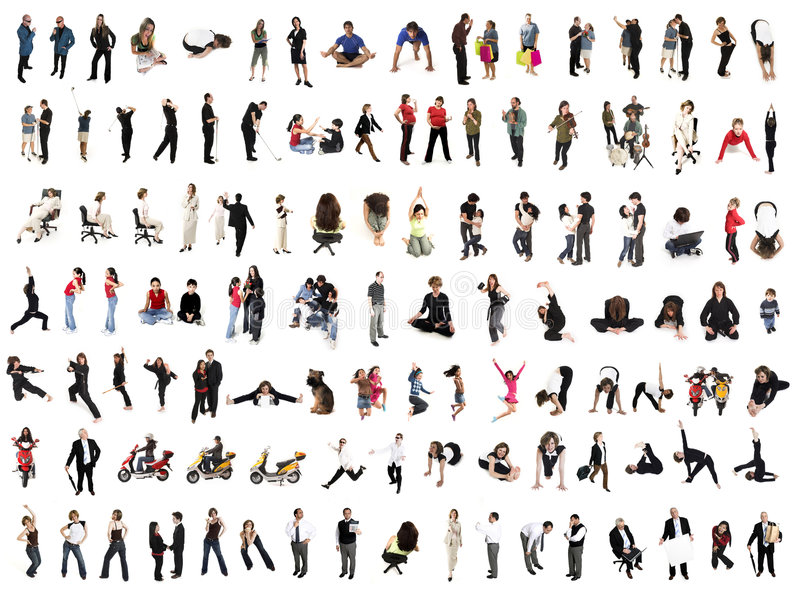 Collage de gens photos stock