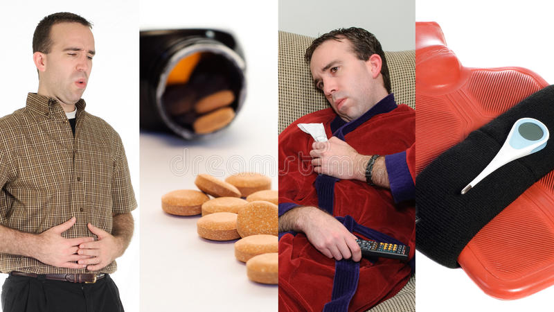 Collage de grippe images libres de droits