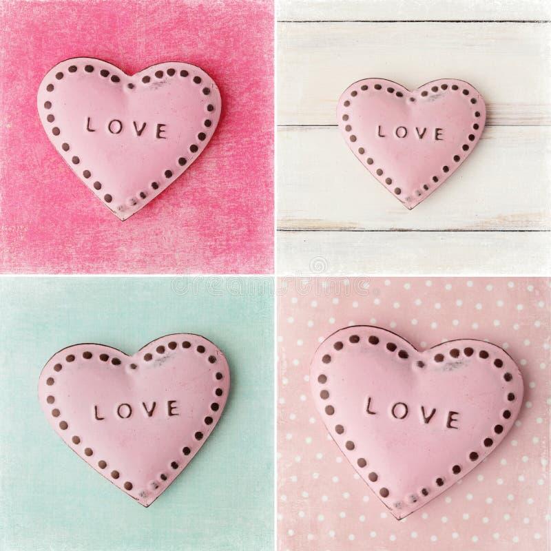 Collage de jour de valentines images libres de droits