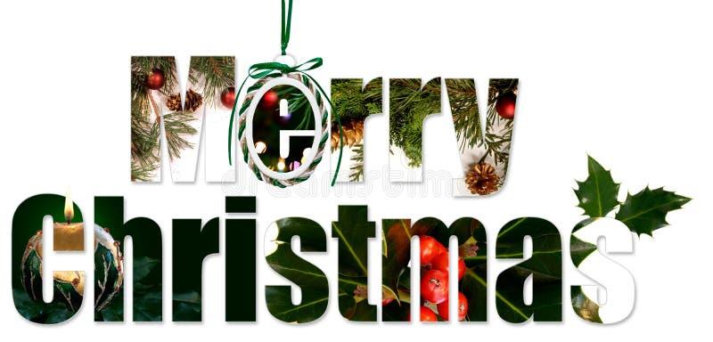 Collage de Joyeux Noël illustration de vecteur