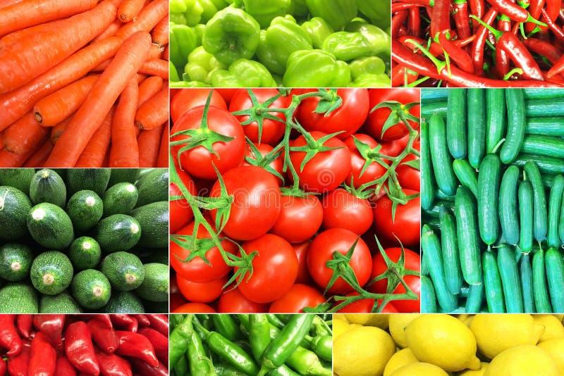 Collage de légumes image stock
