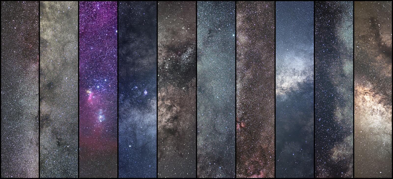 Collage de l'espace Collage d'astronomie Collage d'Astrophotography Univers images stock