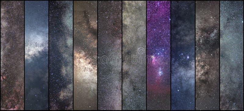 Collage de l'espace Collage d'astronomie Collage d'Astrophotography Univers image stock
