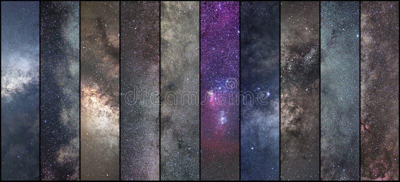 Collage de l'espace Collage d'astronomie Collage d'Astrophotography Univers photographie stock