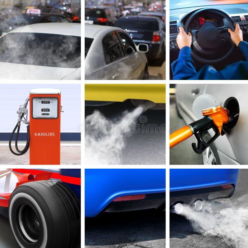 Collage de l'industrie pétrolière photographie stock libre de droits