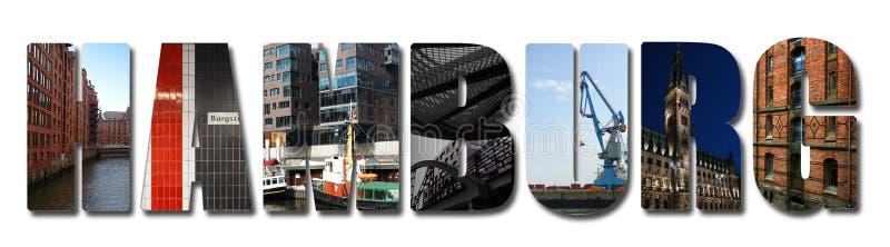 Collage de la bandera de Hamburgo imágenes de archivo libres de regalías