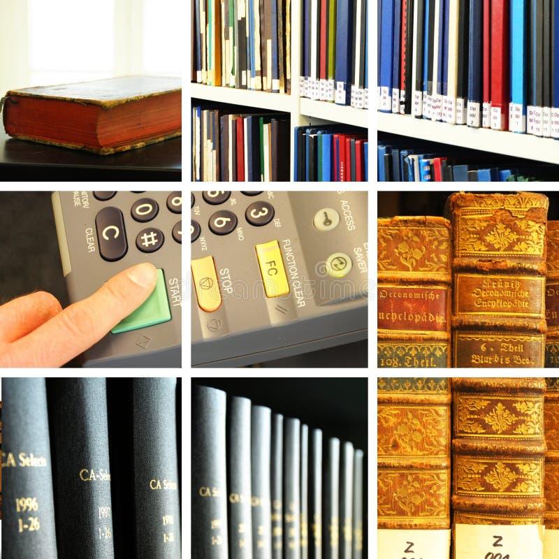 Collage de la biblioteca imagen de archivo