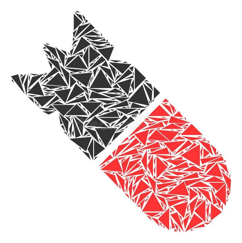 Collage de la bomba de la aviación de triángulos libre illustration