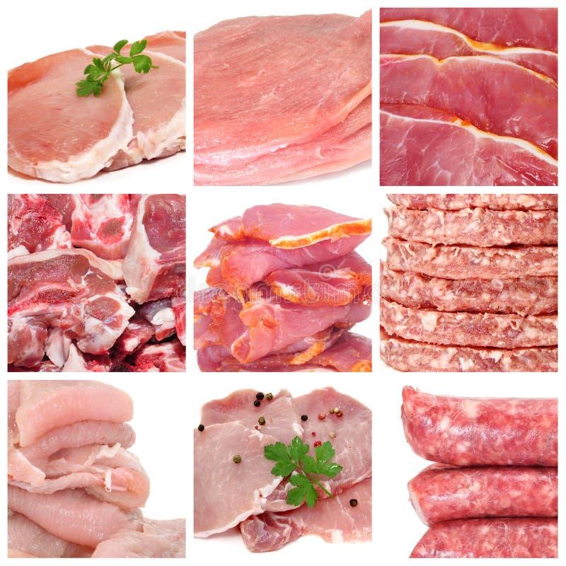 Collage de la carne imágenes de archivo libres de regalías