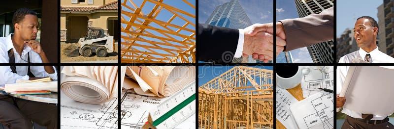 Collage de la construcción foto de archivo libre de regalías