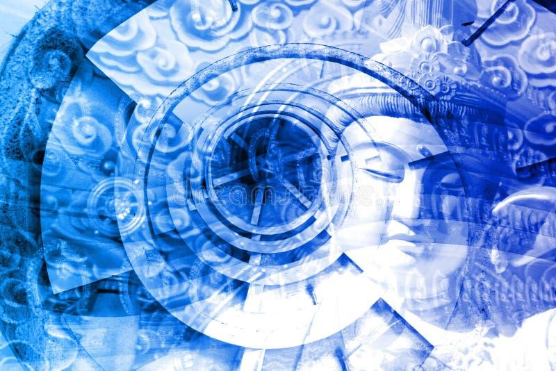 Collage de la cultura de Asia ilustración del vector