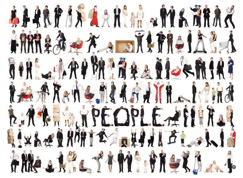 Collage de la gente aislada imagen de archivo libre de regalías