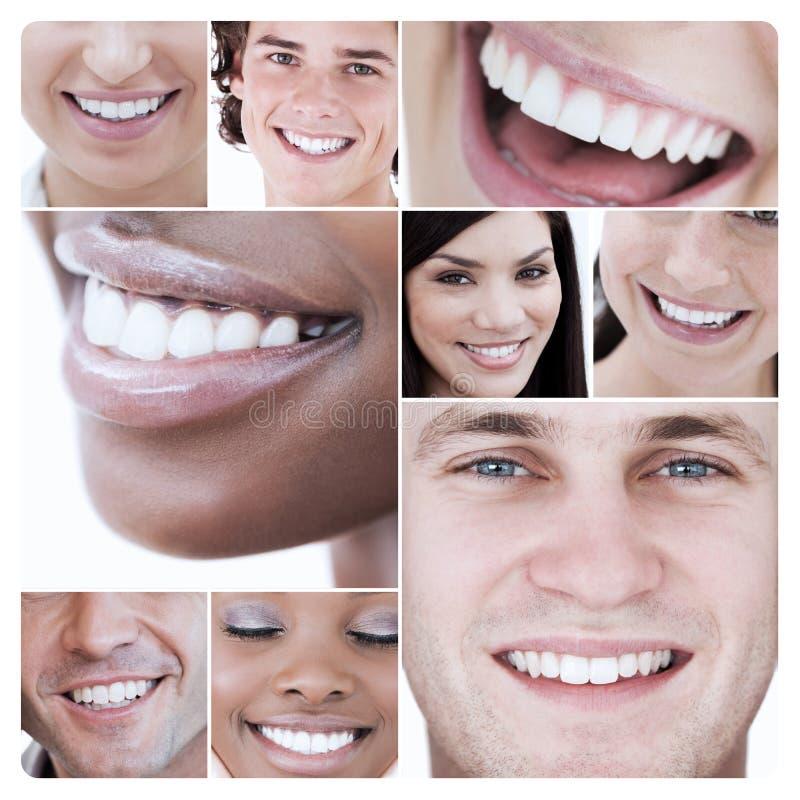 Collage de la gente atractiva joven foto de archivo