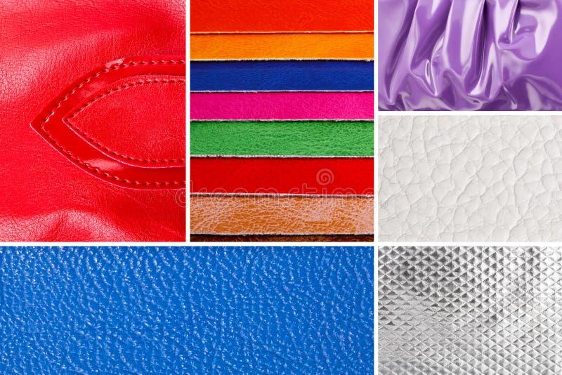 Collage de la imitación de cuero imagen de archivo libre de regalías
