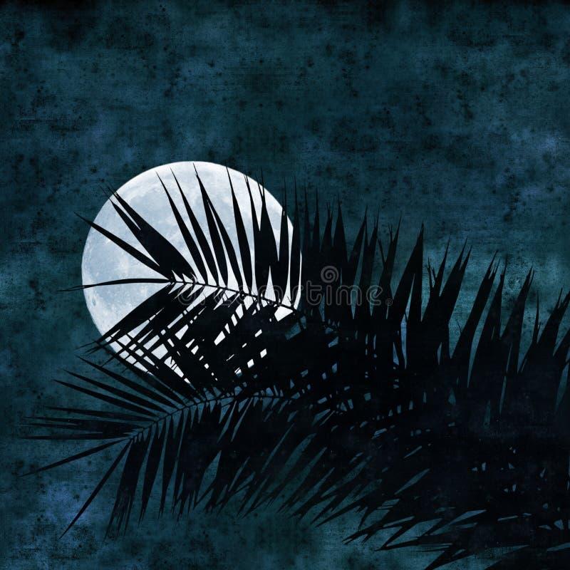 Collage de la Luna Llena stock de ilustración