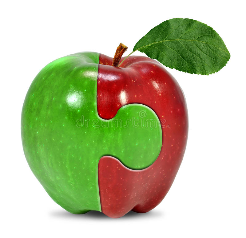 Collage de la manzana fotos de archivo
