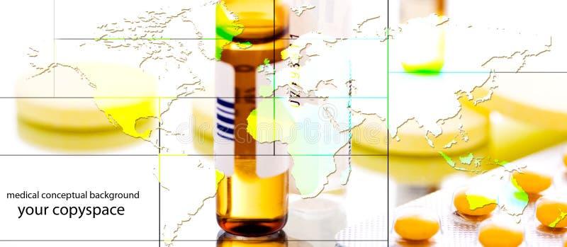 Collage de la medicina de Glogab fotografía de archivo